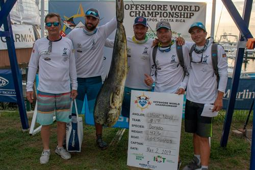 Image of a Dolphin caught by Olivier Nouy on team 52nd Annual Antigua & Barbuda Sportfish Tourn. at the 2019 Offshore World Championship